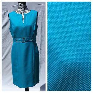 Tahari Arthur Levine turquoise Dress